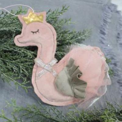 Dusky Pink Hanging Swan