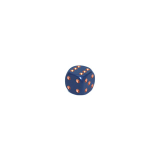 Dusty Blue and Gold Six Sided Dice (12mm)