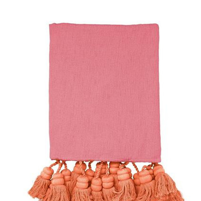 Dusty Pink and Peach Throw