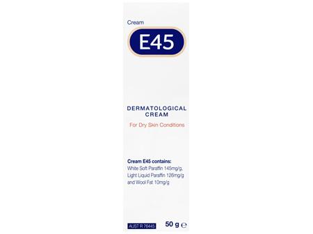 E45 Moisturising Cream for Dry Skin & Eczema 50g