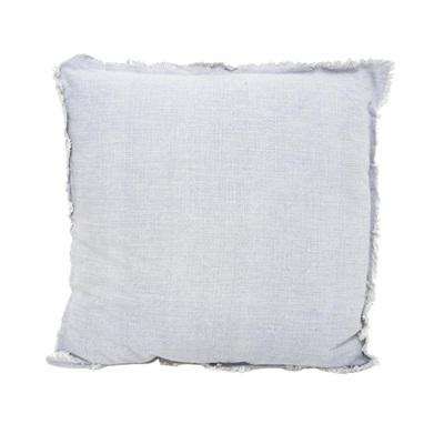 Eada Slub Cotton Cushion W/ Frayed Edge - 55x55cmh