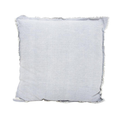 Eada Slub Cotton Cushion W/ Frayed Edge - 55x55cmh