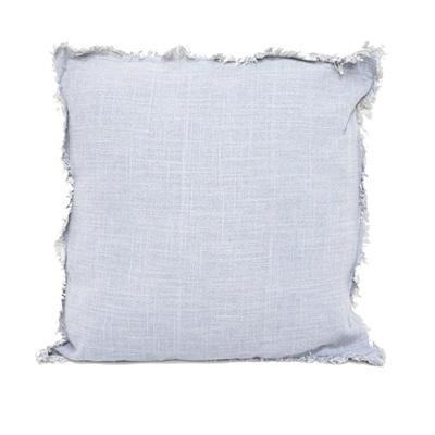 Eada Slub Cotton Cushion W/ Frayed Edge - LT - 45X45cmh