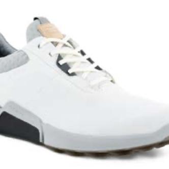Ecco Men's Golf Biom H4 Shoe - White/Concrete