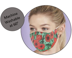 Eco Chic Reusable Face Cover Blue Bee