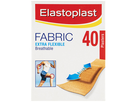 Elastoplast Fabric Extra Flexible Breathable Plasters 40 Strips