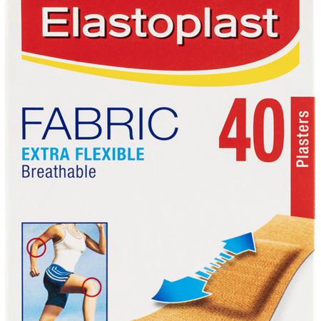 Elastoplast Fabric Extra Flexible Breathable Plasters 40 Strips