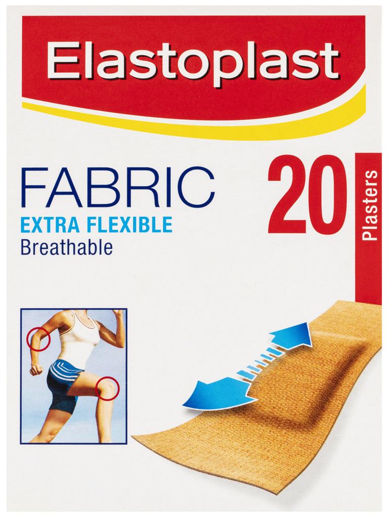 Elastoplast Fabric Extra Flexible Plasters 20 Strips