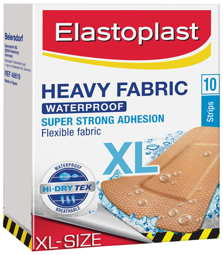 Elastoplast Heavy Fabric Extra Large Strips 10 Pack