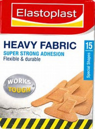Elastoplast Heavy fabric Super Strong Adhension Assorted Plasters x15