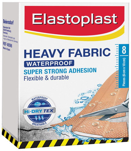 Elastoplast Heavy Fabric Waterproof Dressing 8 Pack