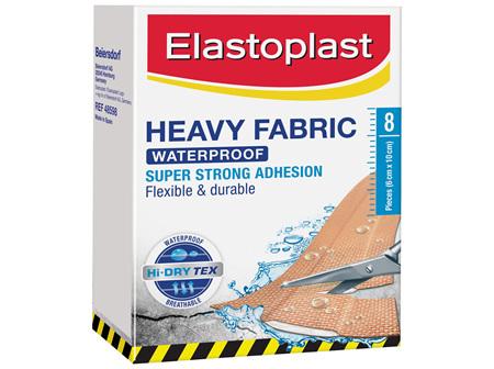 Elastoplast Heavy Fabric Waterproof Dressing 8 Pack