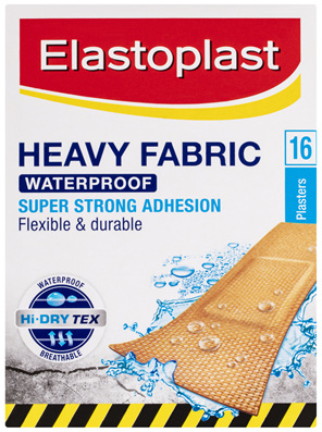 Elastoplast Heavy Fabric Waterproof Plasters 16 Pack