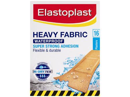 Elastoplast Heavy Fabric Waterproof Plasters 16 Pack