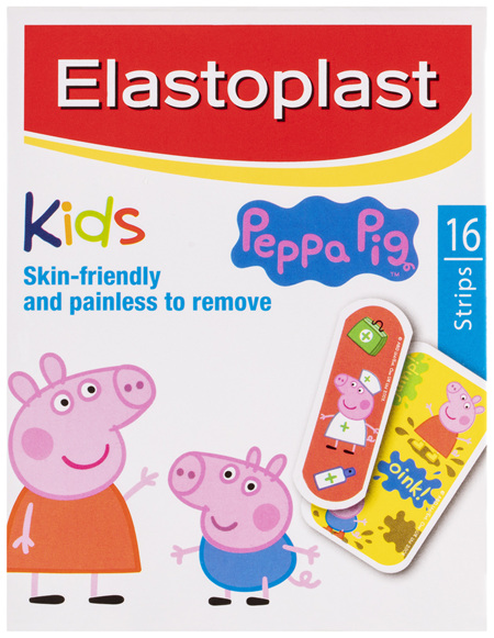 Elastoplast Kids Peppa Pig Strips 16 Pack