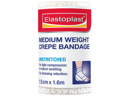 Elastoplast Medium Weight Crepe Bandage Unstretched 7.5cm x 1.6m