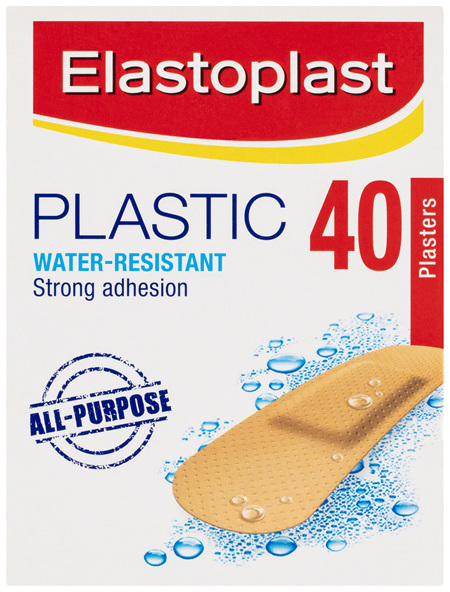 Elastoplast Plastic Water-Resistant All-Purpose Plasters 40 Pack
