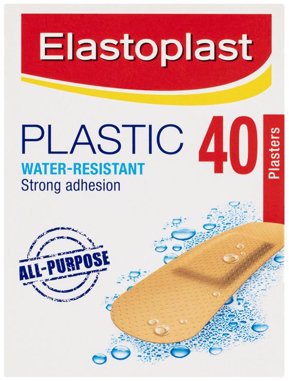 Elastoplast Plastic Water-Resistant All-Purpose Plasters 40 Pack