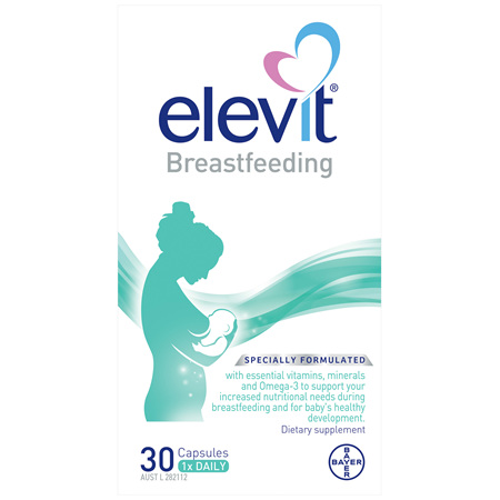 Elevit Breastfeeding Multivitamin Capsules 30 pack (30 days)