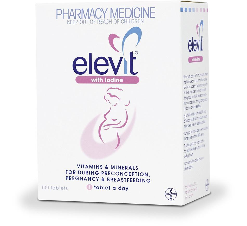elevit iodine pregnancy supplement 100   unichem