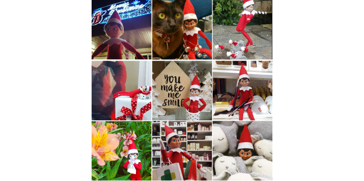 Elf on the shelf was up to all sorts through December