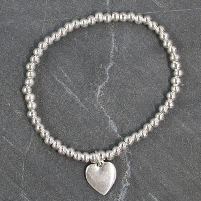 Eli Heart Bracelet - Silver