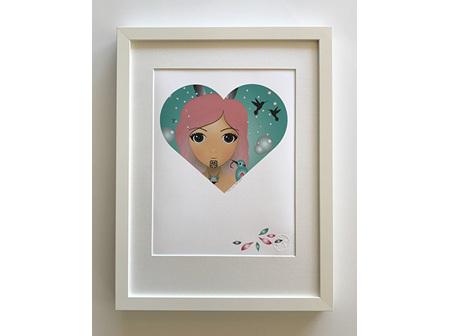 Ema Frost Heart Series Holi Framed