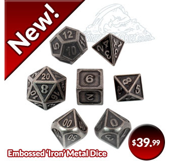 Embossed Iron Metal Polyhedral Dice
