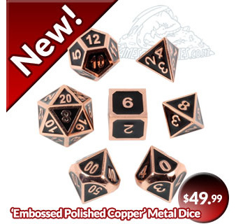 Embossed Polished Copper Dice