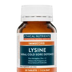 EN Lysine Viral Cold Sore Defence 30tab