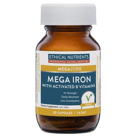 EN Mega Iron + B Vitamins 30cap