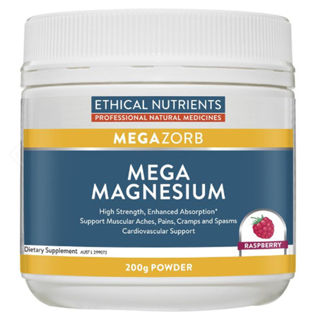 EN Mega Magnesium Powder Raspberry 200g