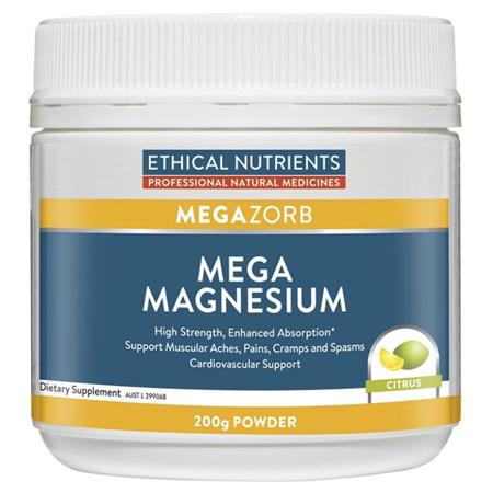 EN Mega Magnesium Powdrr Citrus 200g