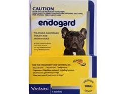 ENDOGARD MEDIUM DOG 10KG WORMER 4 PK