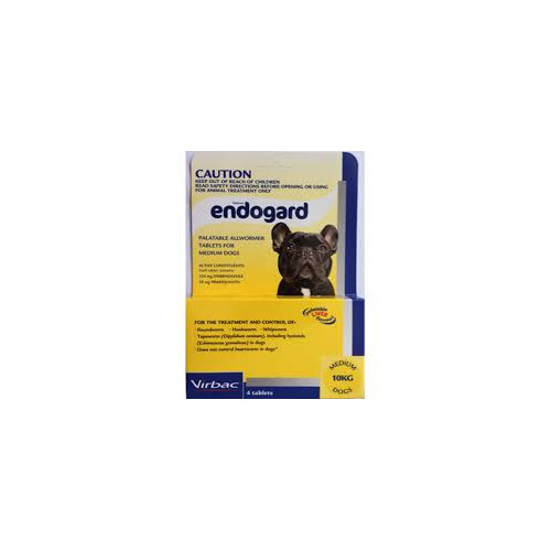 ENDOGARD MEDIUM DOG 10KG WORMER 4 PK