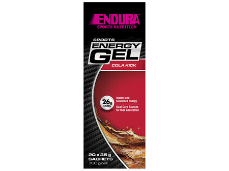 Endura Sports Energy Gel Cola Kick 20 x 35g Sachets