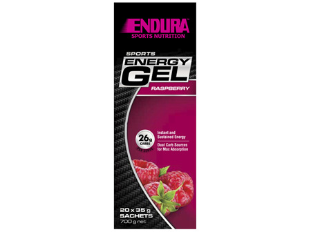 Endura Sports Energy Gel Raspberry 20 x 35g Sachets