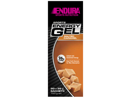 Endura Sports Energy Gel Salted Caramel 20 x 35g Sachets