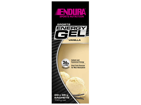 Endura Sports Energy Gel Vanilla 20 x 35g Sachets
