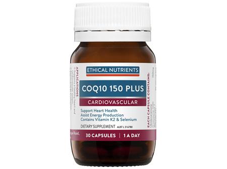 Ethical Nutrients COQ10 150 PLUS 30 Capsules