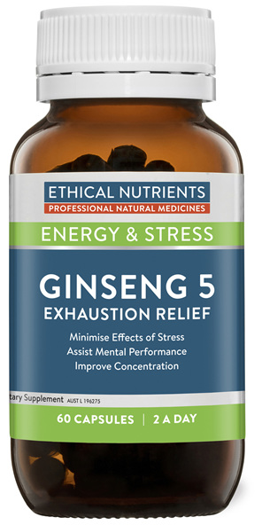 Ethical Nutrients Ginseng 5 Exhaustion Relief 60 Capsules