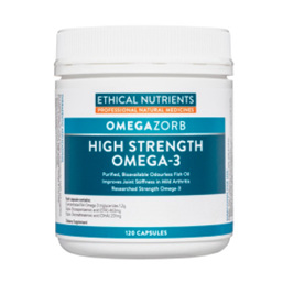 ETHICAL NUTRIENTS Hi-Strength Fish Oil 120caps