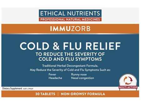 Ethical Nutrients IMMUZORB Cold & Flu Relief 30 Tablets