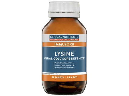 Ethical Nutrients IMMUZORB Lysine Viral Cold Sore Defence 60 Tablets