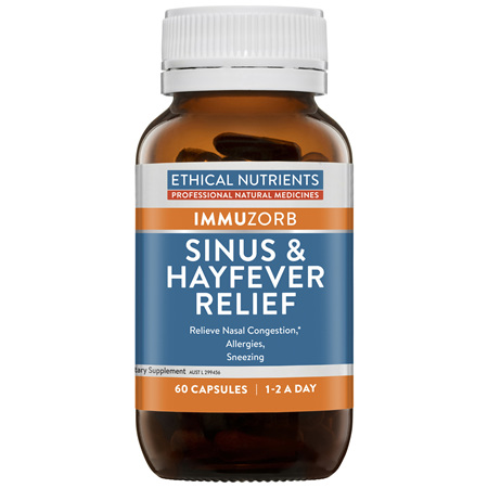 Ethical Nutrients IMMUZORB Sinus & Hayfever Relief 60 Capsules