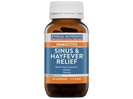 Ethical Nutrients IMMUZORB Sinus & Hayfever Relief 60 Capsules