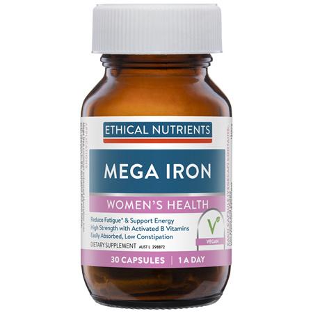 ETHICAL NUTRIENTS Mega Iron + B Vitamins 30cap