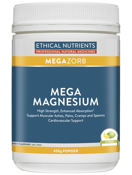 Ethical Nutrients Mega Magnesium Citrus 450g Powder