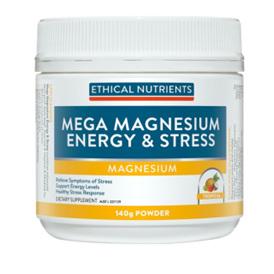 ETHICAL NUTRIENTS Mega Magnesium Energy&Stress 140g