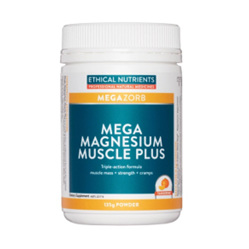 ETHICAL NUTRIENTS Mega Magnesium Muscle Plus Powder 135g